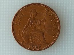Grande-Bretagne 1 Penny 1962 - 1902-1971 : Monnaies Post-Victoriennes