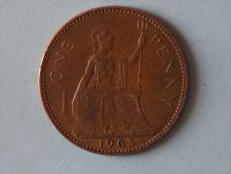 Grande-Bretagne 1 Penny 1963 - 1902-1971 : Monnaies Post-Victoriennes