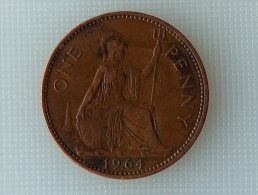 Grande-Bretagne 1 Penny 1964 - 1902-1971 : Monnaies Post-Victoriennes