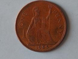 Grande-Bretagne 1 Penny 1965 - 1902-1971 : Monnaies Post-Victoriennes