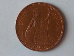 Grande-Bretagne 1 Penny 1966 - 1902-1971 : Monnaies Post-Victoriennes