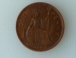 Grande-Bretagne 1 Penny 1967 - 1902-1971 : Monnaies Post-Victoriennes