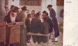 Judaica, Austrian Postcard Mailed 1911: Jews In Studying The Talmud, By Lithuanian Painter Lazar Krestin - Jewish