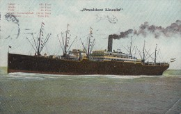 AK Schiff President Lincoln Gelaufen Hamburg 30.9.10 - Dampfer