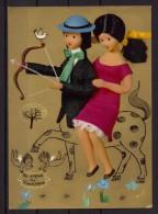 Peynet - Carte Postale Fantaisie - Les 12 Signes Du Zodiaque - Sagittaire - Peynet