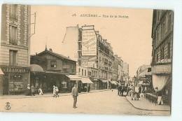 ASNIERES : Rue De La Station. Publicité Murale Suprême Pernot. Magasin Vladimir. Dos Simple. 2 Scans. - Asnieres Sur Seine