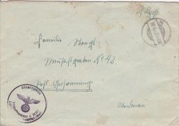Feldpost WW2: From Kassel: 4. Batterie Leichte Flak-Abteilung 995 FP L29262 LGPA Frankfurt Dtd 18.5.1942 - Letter Inside - Militaria