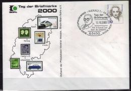ALLEMAGNE Letrre 1er Jour  2000  Hanau 1  Aerotrain Train Aeroport Nordinateur  Voiture Auto - Trains