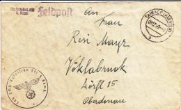 Feldpost WW2: From POW Guard - Kriegsgefangene Einheit: Landesschützen Bataillon 891 Dtd Tainach (Kärnten) 9.12.1940 - C - Militaria