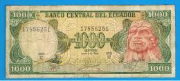 ECUADOR - 1000 Sucres  1988 P-125 - Ecuador
