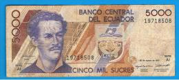 ECUADOR - 5000 Sucres  1993  P-128 - Ecuador