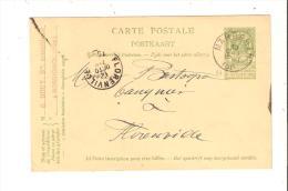 Entier Postal Belgique De Rossignol Vers Florenville 1909 , G Rouy Munitions , Oblitération Marbehan - Enteros Postales