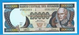 ECUADOR - 20.000 Sucres  1999 SC  P-129 - Ecuador