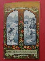 2 CP Pub - Les Rondes Fleuries -  Dos Grands Magasins D'habillement - Henri Esders Paris - Pubblicitari
