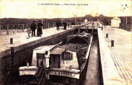 18 LE GUETIN ( Cher ) Pont Canal - La Cuvette - Peniche L AURORE - France
