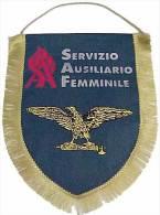 Banderín Servizio Ausilirio Femminile. Italia Fascista. 2ª Guerra Mundial. 1939-1945. - Banderas