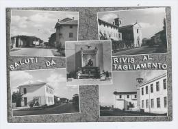 RIVIS AL TAGLIAMENTO (UD) 1961 - Saluti Da... Con 5 Vedute Panoramiche - Viaggiata - In Buone Condizioni. - Italia