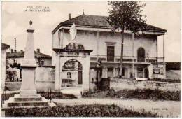 Feillens, La Mairie Et L'Ecole - France