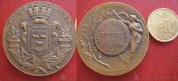Medaille , Expositon Philatelique Bourges 1936 , L. O. Mattei - Profesionales / De Sociedad