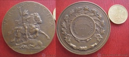 Medaille , Expositon Philatelique National Clermont Ferrand 1932, Vercingetorix , A. Bartholdi - Profesionales / De Sociedad