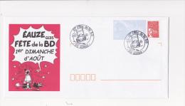 PAP Pret à Poster EAUZE Fete De La BD Dessin Affiche Serge ERNST Tampon 2003 - Postal Stamped Stationery