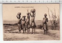 Zambèze - Fillettes Revenant Du Fleuve - Zambie