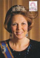 D12734 CARTE MAXIMUM CARD FD 1991 NETHERLANDS - QUEEN BEATRIX CP ORIGINAL - Royalties, Royals