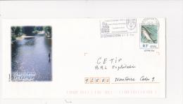 PAP Pret à Poster SAUMON Richesse D´Auvergen Pêche Circulé Flamme St Germain L´Herm 2004 - Prêts-à-poster:  Autres (1995-...)