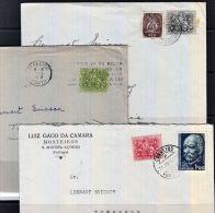 C0236 PORTUGAL, 3 @ 1950s Covers - 1910-... Republic