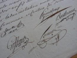 [TOUL – An VI] - Pièce Signée Par 5 Membres De L'administration Municipale De TOUL. / GARDE NATIONALE. - Autógrafos
