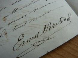 Ernest BRETON [1812-1875], Archéologue. - AUTOGRAPHE. - Autografi