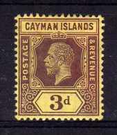 Cayman Islands - 1914 - 3d Definitive - MH - Iles Caïmans