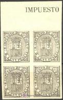 ES141s.-L2164.España.Spain.Espagne,ESCUDO  DE ESPAÑA.1874.(Ed141*s)bl 4..LUJO - Nuevos