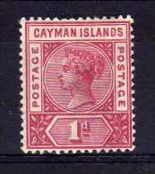 Cayman Islands - 1900 - 1d Definitive (Pale Carmine) - MH - Iles Caïmans