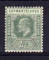 Cayman Islands - 1907 - ½d Definitive (Watermark Multiple Crown CA) - MH - Iles Caïmans