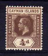 Cayman Islands - 1913 - ¼d Definitive (Multiple Crown CA) - MH - Iles Caïmans