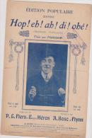 (g6) Hop! Eh! Ah! Di! Ohe! FRAGSON , Musique : A BOSC Et FLYNN , Paroles : EUGENE HEROS - Partitions Musicales Anciennes