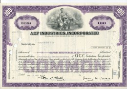 ACF INDUSTRIES INCORPORATED USA - A - C