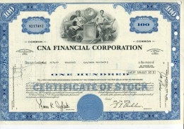 CNA FINANCIAL CORPORTAION - Actions & Titres