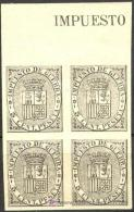 ES141s-L2164TESO.España .Spain.Espagne.Impuesto De Guerra.,ESCUDO  DE ESPAÑA.1874.(Ed141*s)bl 4..LUJO - Otros