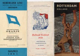 3 DEPLIANTS  TOURISTIQUES -    HOLLAND  -  NEDERLAND - Werbung