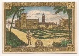 ALLEMAGNE / GERMANY - DEUTSCH SUDWEST AFRIKA  KOLONY - 75 PFENNIG 1922 / SERIE A - [12] Colonie & Banche Straniere