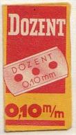 RAZOR BLADE RASIERKLINGE DOZENT 0,10 M/m   Nicht Ohne Rasierer Gefüllt - Rasierklingen