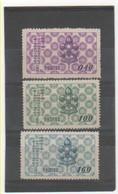 TAIWAN 1957 YT N° 231-232-233 Neufs** Emis Sans Gomme - 1945-... République De Chine