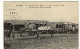 AVION- RENAUX- Sur Biplan Farman Carte Loterie Umf Infanterie Beau Plan Animé Bon Etat - Aviateurs