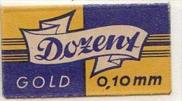 RAZOR BLADE RASIERKLINGE DOZENT GOLD 0,10 M/m  Nicht Ohne Rasierer Gefüllt - Rasierklingen