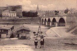 Angers..animée..le Pont De La Basse-Chaîne..Bateaux Lavoirs - Angers