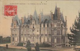 FLIXECOURT (80)  LE CHATEAU , VUE SUR LE PARC (carte Toilée) - Flixecourt