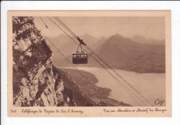 CP - Téléférique De VEYRIER Du Lac D'Annecy - Vue Sur Menthon Et Massif Desz Bauges - Veyrier