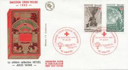 F.D.C. SERIE CROIX ROUGE  (Oblit. PARIS  Du 20.11.1982) - FDC